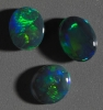 Black Opal set from Lightning Ridge